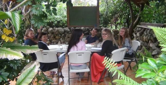 Spanish classroom in Boquete