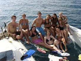 Catamaran adventures in Bocas