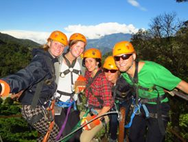 Waterfall rappelling adventures in Boquete