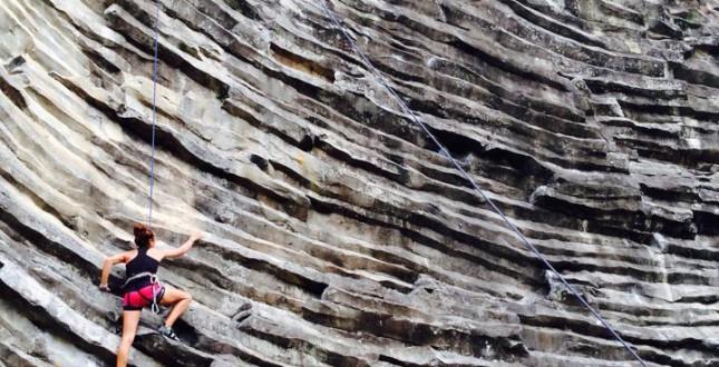 Rock climbing near Boquete