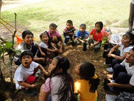 Children receive Environmental Education from volunteers