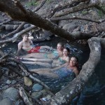Students enjoying the hotsprings of Caldera, town near to Boquete.