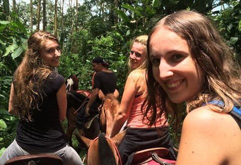 Jungle excursion by horseback