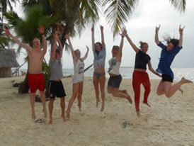 Happy campers on San Blas