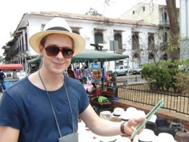 Shopping a Panama Hat in Panama City