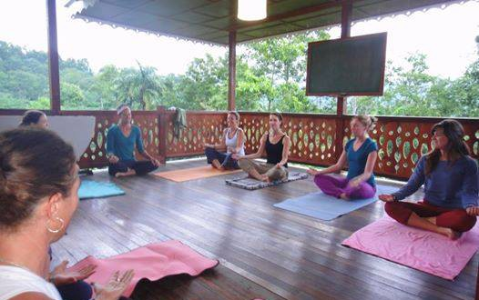 Yoga classes on the school balcony - Turrialba