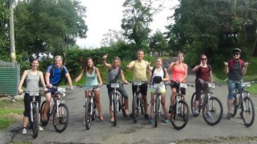 Mountain bike tour to hot springs Boquete