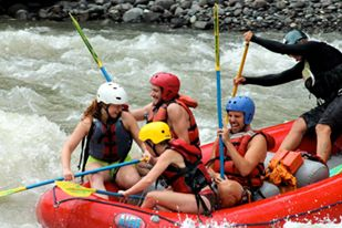 Rafting on the Pacuare River in Costa Rica