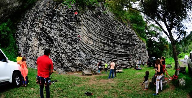 Rock climbers in Boquete - Panama