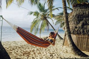 Relaxing in a hammock in San Blas