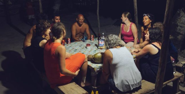 Game night in San Blas