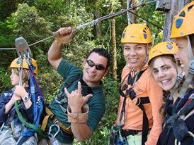 Canopy treetop zipline tours
