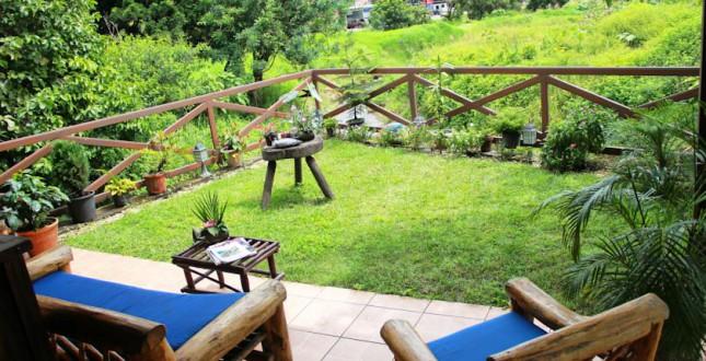 Boquete Stone Cabins - back porch