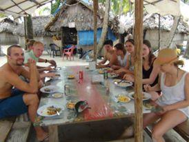 Family dinner - island style - San Blas