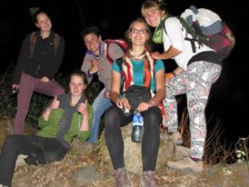 Night hike to observe insects in Turrialba