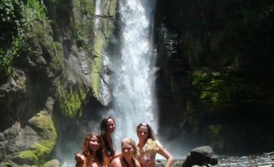 Tropical waterfalls visits