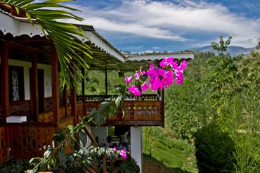 Spanish by the River - Turrialba balcony