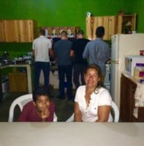 Local family as hosts in Boquete