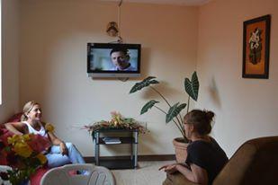 Living room in local hostfamily Turrialba