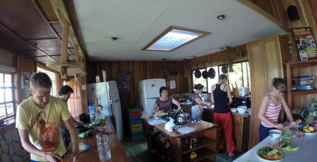 Kitchen of the Turrialba hostal