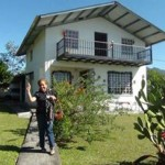Host lady in front of her home in Boquete