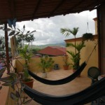 Balcony with hammock and plants in Turrialba