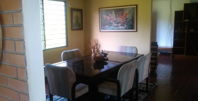 Dining area in a local house for rent