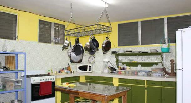 Kitchen of Hostel La Posada in Panama City