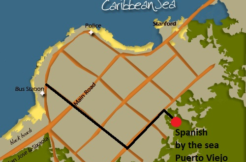 Map of Puerto Viejo