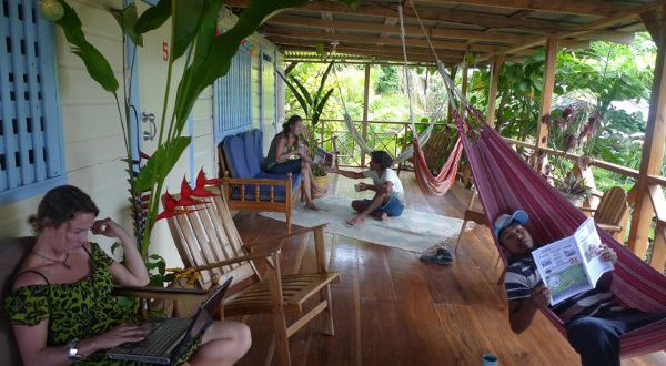 Balcony from private cabins in Saigon - Bocas del Toro