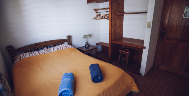 Double bed in Hostel Spanish by the River - Boquete