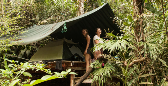 Gekui Pacuare River Camp tent on platform