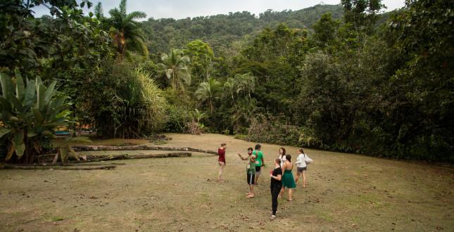 People in Gekui River Camp - Costa Rica
