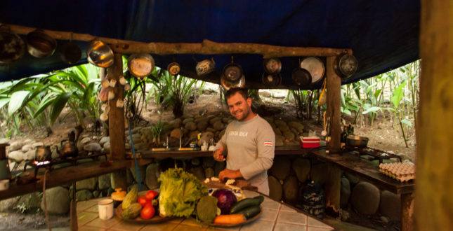 Gekui River Camp jungle kitchen