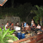 Live music outdoor party in Costa Rica
