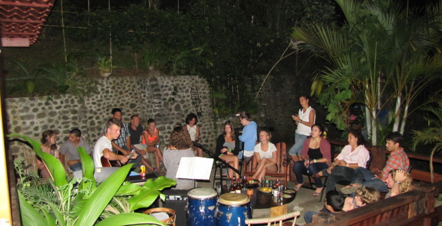 Live music party in Turrialba, Costa Rica - Spanish by the River