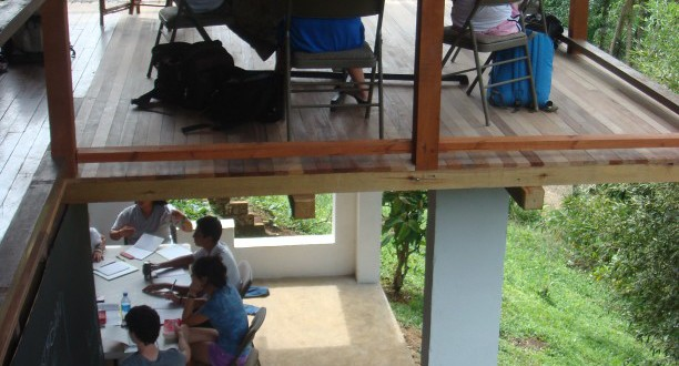 Open air classrooms in Turrialba, Costa Rica
