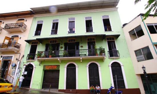 Front of Luna's Castle Hostel in Panama City