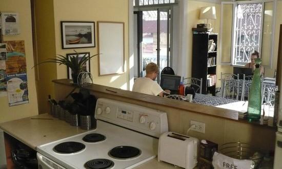 Kitchen and Lounge of Magnolia Inn Panama City
